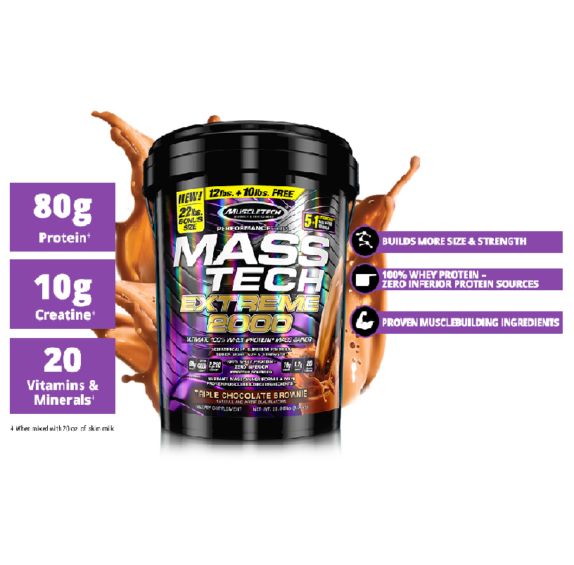 Buy MUSCLETECH® Performance Series MASS-TECH EXTREME 2000 Ultimate Whey + Mass Gainer 22 LBS All Over Lahore Pakistan 2021,www.arnutrition.pk iS The Best Food Supplements Store In Lahore Pakistan