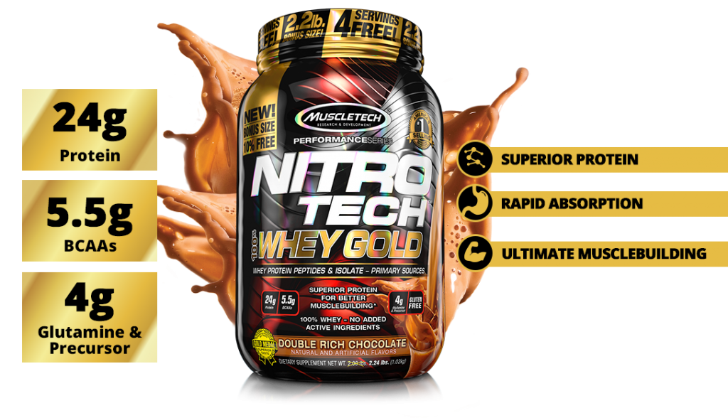 Nutrition Facts MUSCLETECH® NITRO-TECH 100% Whey Gold Protein Best Food Supplements In All Over Lahore Pakistan 2021, www.arnutrition.pk iS The Best Food Supplements Store In Lahore Pakistan 2021