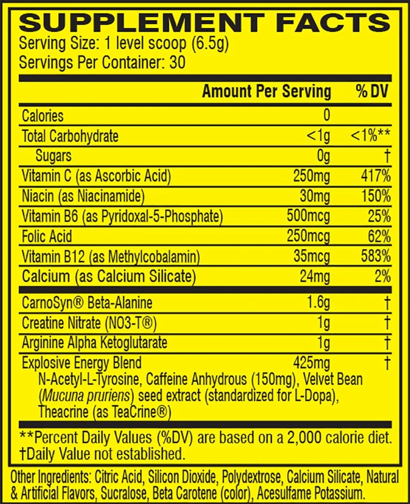 Nutrition Facts Buy CELLUCOR® C4 Original Explosive Pre-Workout Supplement Buy All Over In Lahore Pakistan 2021, www.arnutrition.pk iS The Best Food Supplements Store In Lahore Pakistan
